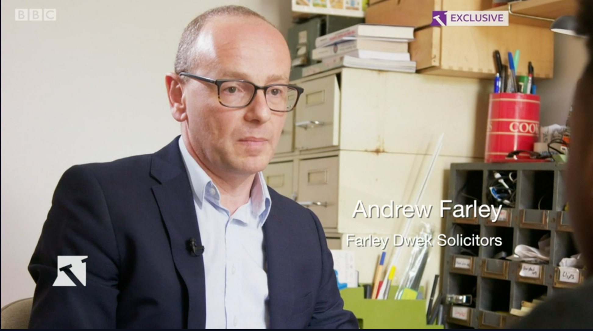 Andrew Farley, Solicitor, on the BBC Victoria Derbyshire Show (11.06.19)